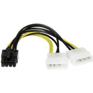 StarTech.com 6in LP4 to 8 Pin PCI Express Video Card Power Cable Adap