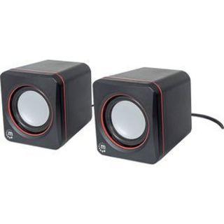 Manhattan 2600 Series 2.0 Speaker System - 6 W RMS - Black