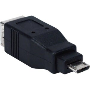 QVS USB High-Speed OTG Micro-B Male to USB B Female Adaptor