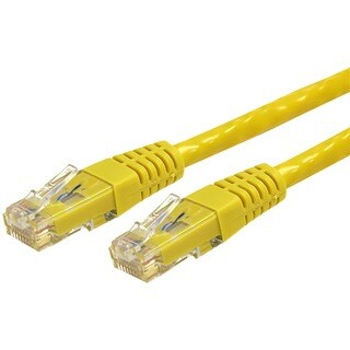 StarTech.com 3ft Yellow Molded Cat6 Patch Cable ETL Verified