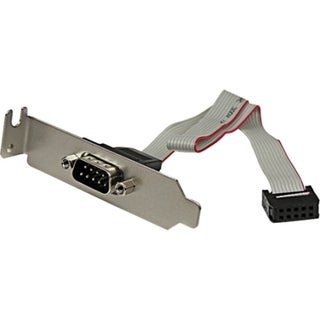 StarTech.com 9 Pin Serial Male to 10 Pin Motherboard Header LP Slot P