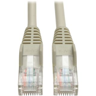 Tripp Lite 3ft Cat5e / Cat5 Snagless Molded Patch Cable RJ45 M/M Gray