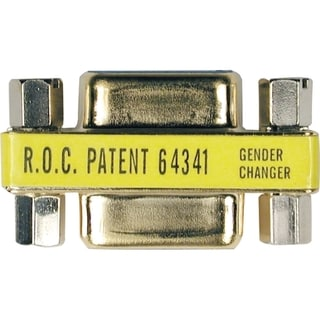 Tripp Lite Comapct Gold DB9 Gender Changer Adapter Connector DB9 M/M