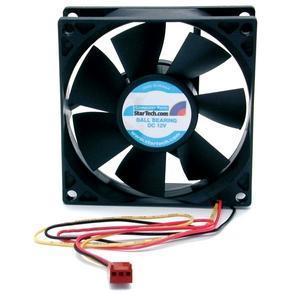 StarTech.com 80x25mm Dual Ball Bearing Computer Case Fan w/ TX3 Conne