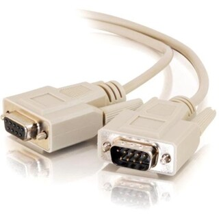 C2G 15ft DB9 M/F Extension Cable - Beige
