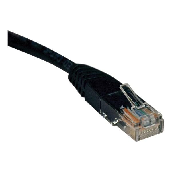 Tripp Lite 3ft Cat5e / Cat5 350MHz Molded Patch Cable RJ45 M/M Black