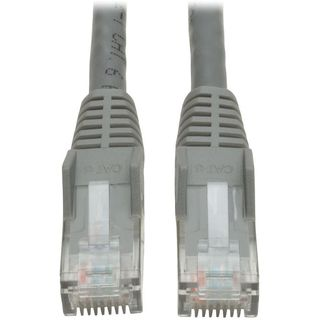 Tripp Lite 5ft Cat6 Gigabit Snagless Molded Patch Cable RJ45 M/M Gray