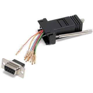 StarTech.com DB9 to RJ45 Modular Serial Adapter - Black