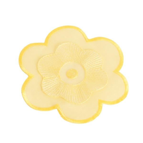 Flower Design Yellow Coasters (Set of Four)