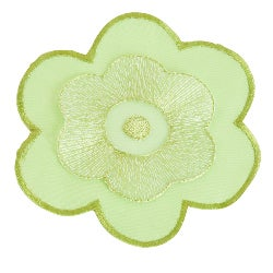 Flower Design Lime Coasters (Set of 4)