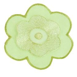 Flower Design Lime Coasters (Set of 4)
