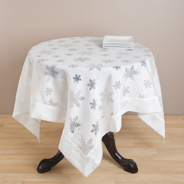 Burnout Snowflake Design Tablecloth