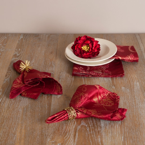Jacquard Holiday Design Napkins (Set of 4)