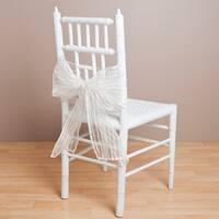 Fuzzy Stripe Sheer Chair Tie (Set of 2)