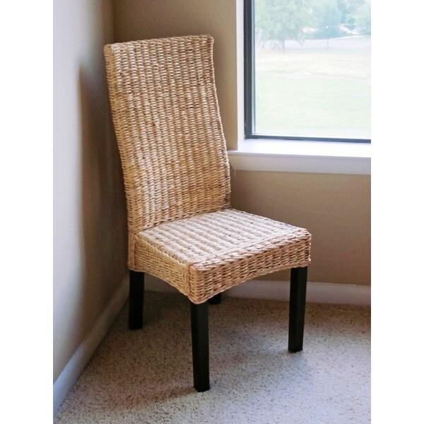 International Caravan Solid Mahogany Frame 'Romero' Twisted Banana Leaf Chair (Set of 2)