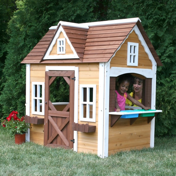 Swing n slide craftsman cottage play house free shipping for Free playhouse plans with slide