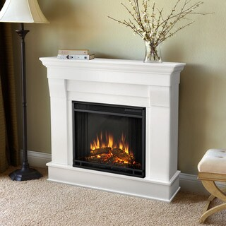 Real Flame White Chateau 40.94 in. L x 11.81 in. D x 37.6 in. H Electric Fireplace