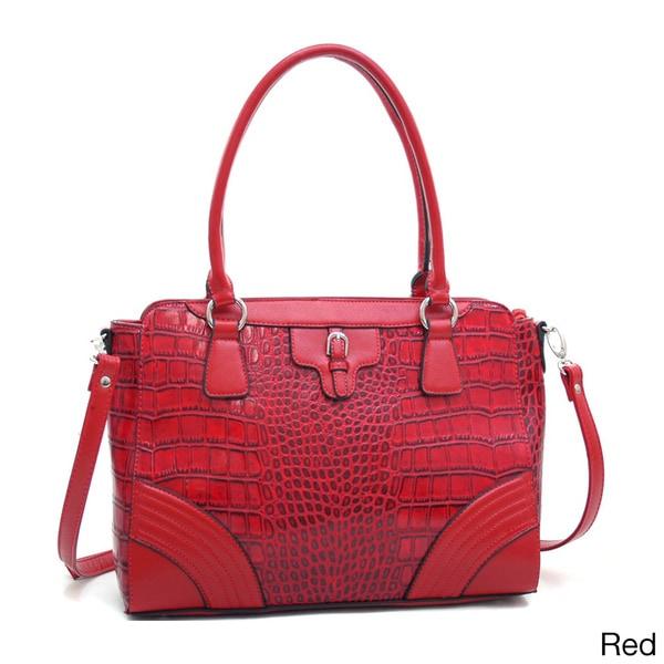 Dasein Women's Matte Croco Shoulder Bag