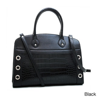 Dasein Croco Satchel with Stud Accents