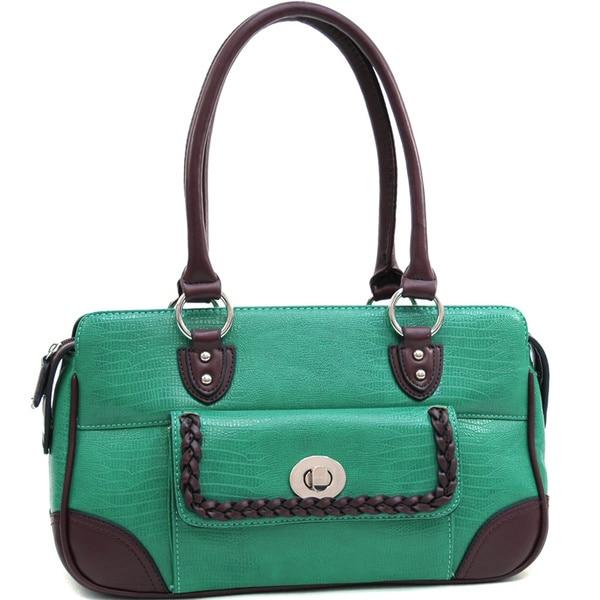 Dasein Soft Matte Croco Texture Shoulder Bag