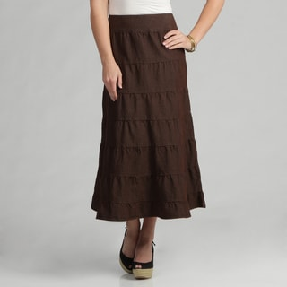 Live A Little Women's Brown Tiered Maxi Skirt - Free Shipping On ...