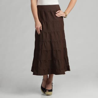 Live A Little Women's Brown Tiered Maxi Skirt|https://ak1.ostkcdn.com/images/products/7479939/7479939/Live-A-Little-Womens-Brown-Tiered-Maxi-Skirt-P14925988.jpeg?impolicy=medium