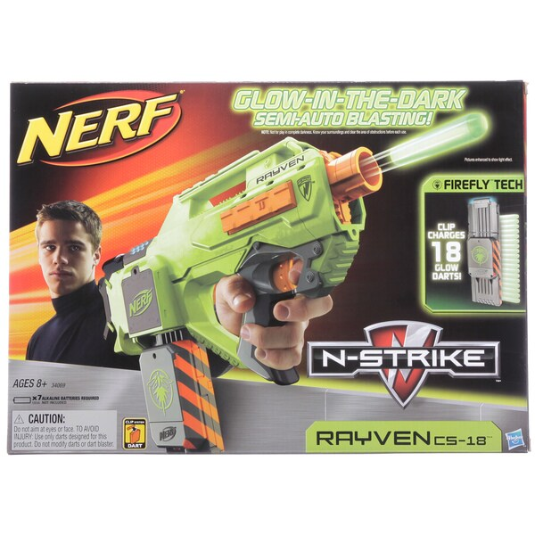 Nerf N-strike Glow-in-the-dark Rayven Blaster