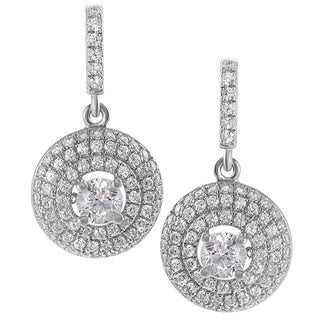 Journee Collection Sterling Silver Cubic Zirconia Mini Chandelier Earrings