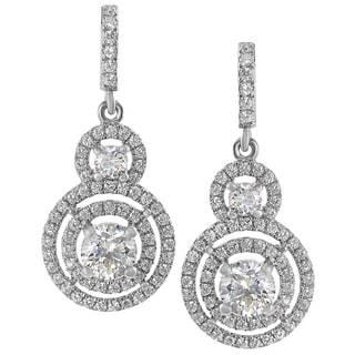Journee Sterling Silver CZ Mini Chandelier Drop Earrings
