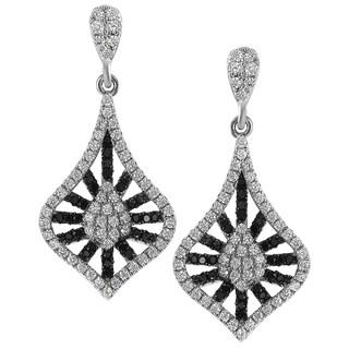 Journee Collection Sterling Silver Two-tone Cubic Zirconia Mini Chandelier Earrings