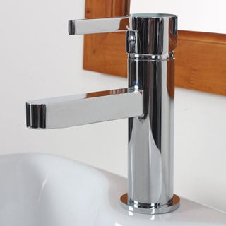 Elite Modern Single-handle Chrome Bathroom Vessel Faucet