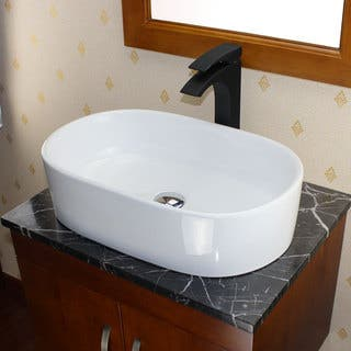 Elite High Temperature Grade A Ceramic White Bathroom Vessel Sink Sinks For Less  Overstock com
