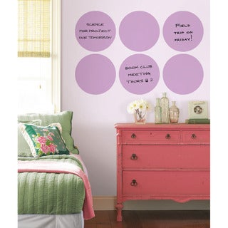 Wall Pops Plush Purple Dry-erase Dot Decals Set