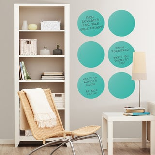 Wall Pops Calypso Teal Dry Erase Dot Decals Set