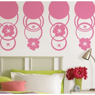 Wall Pops Flirt Dot and Hooplah Pink Dot Wall Decals