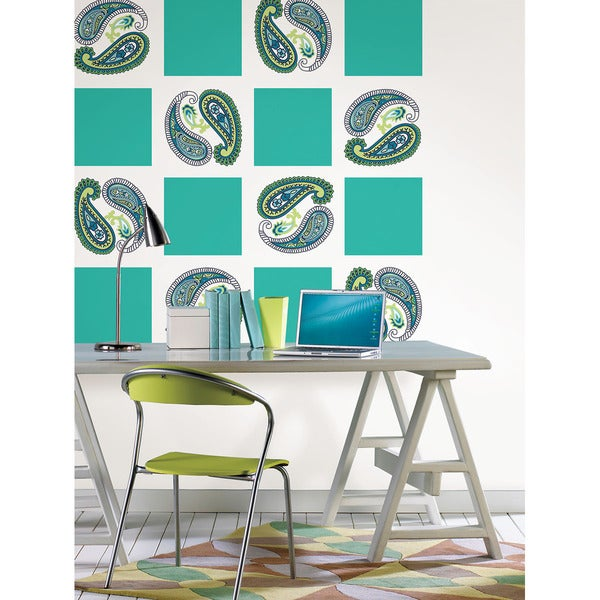 Wall Pops Oh Calypso Blox and Paisley Dot Wall Decals