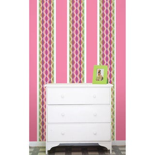 WallPops Petals and Flirt Pink Stripes