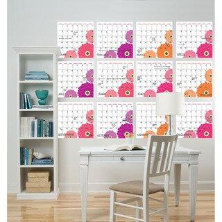 WallPops Zinnia Yearly Calendar Decal Pack
