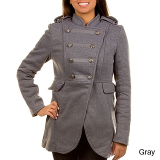 Stanzino Women's Double Breasted Military Coat