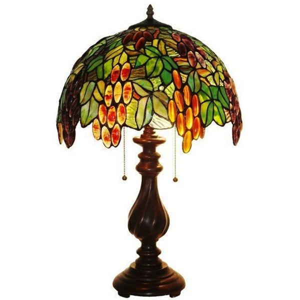 Tiffany Style Grapes Table Lamp