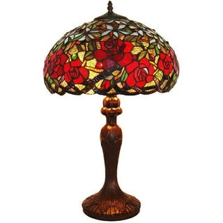 Tiffany Style Roses Table Lamp