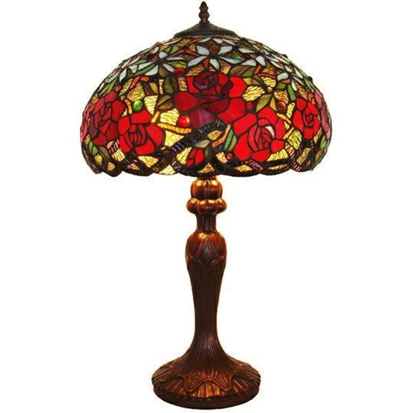 Shop Tiffany Style Roses Table Lamp On Sale Free