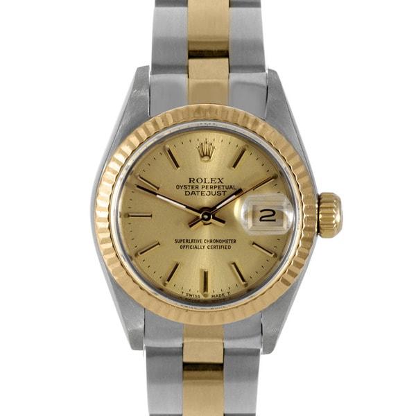 Pre-owned Rolex Women's 18-karat Two-tone Datejust Watch