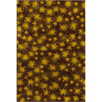 Filament Star Design Wool Rug - 5' x 7'6