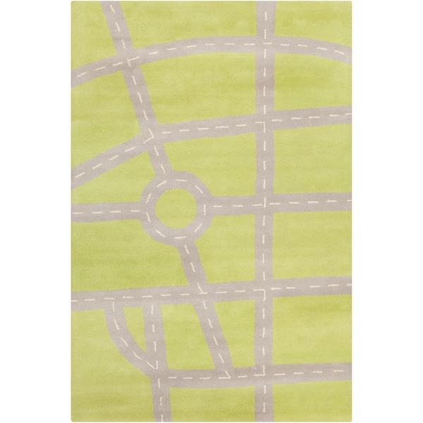 Filament Geometric Green Wool Rug - 5' x 7'6