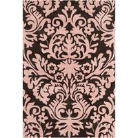 Filament Brown/ Pink Floral Wool Rug - 5' x 7'6