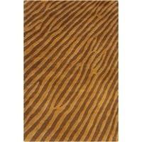 Filament Brown Abstract Wool Area Rug - 5' x 7'6