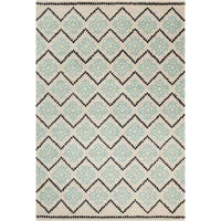 Filament Cream Abstract Wool Rug - 5' x 7'6