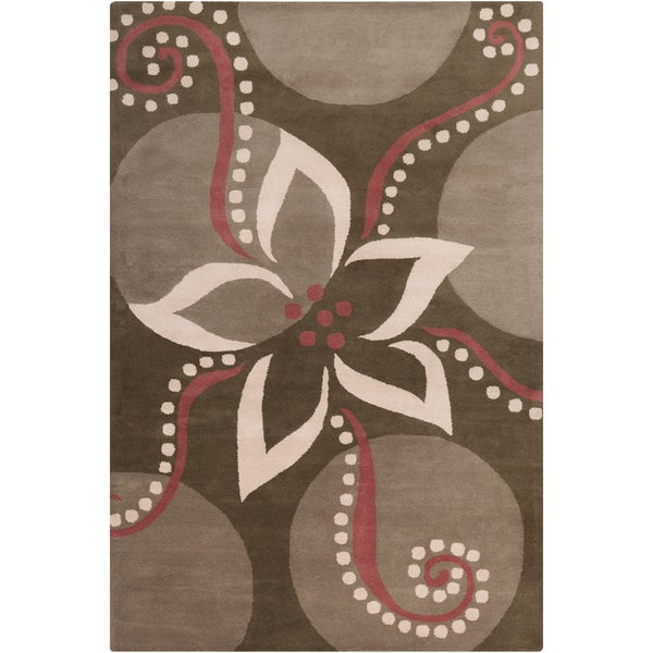 Filament Brown Wool Rug - 5' x 7'6