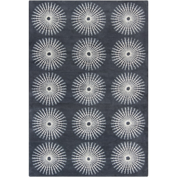 Filament Gray Wool Area Rug - 5' x 7'6
